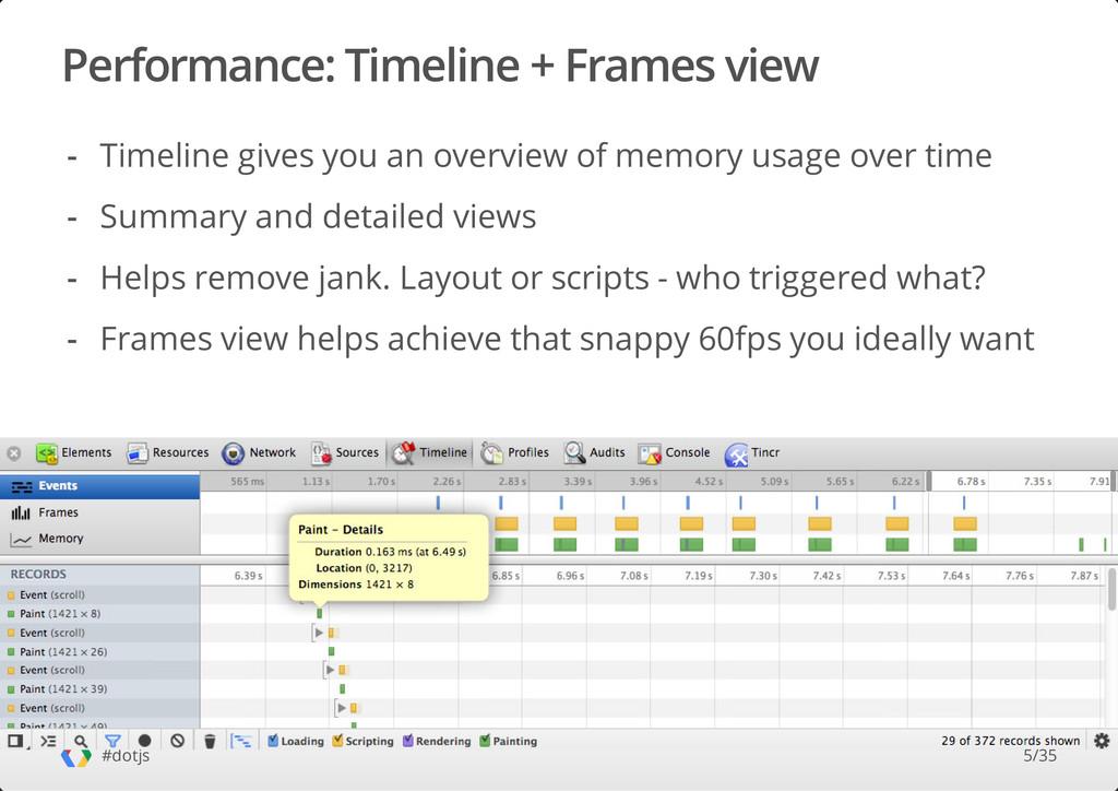 Performance: Timeline + Frames view #dotjs Time...