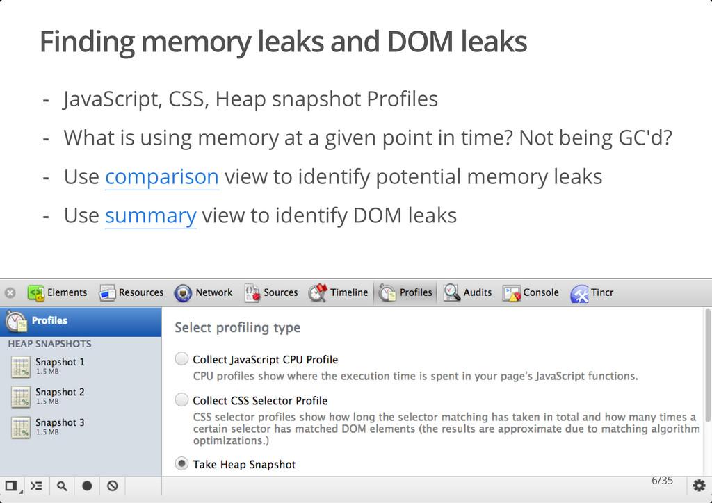 Finding memory leaks and DOM leaks #dotjs JavaS...