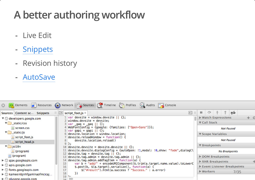 A better authoring workflow #dotjs Live Edit Sn...