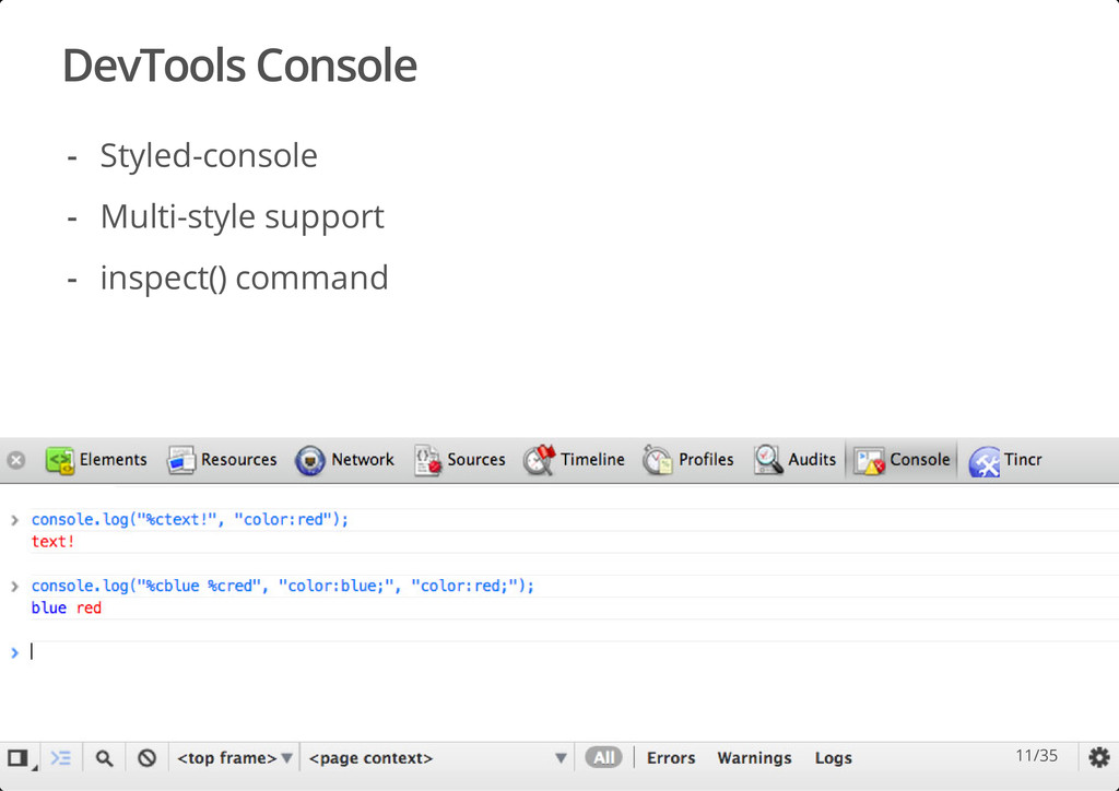 DevTools Console #dotjs Styled-console Multi-st...