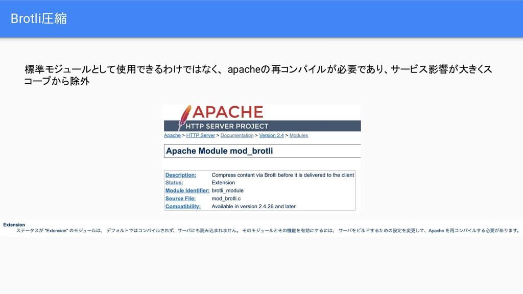 標準モジュールとして使用できるわけではなく、 apacheの再コンパイルが必要であり、サービス...
