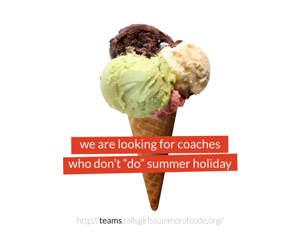 """we are looking for coaches who don't """"do"""" summe..."""