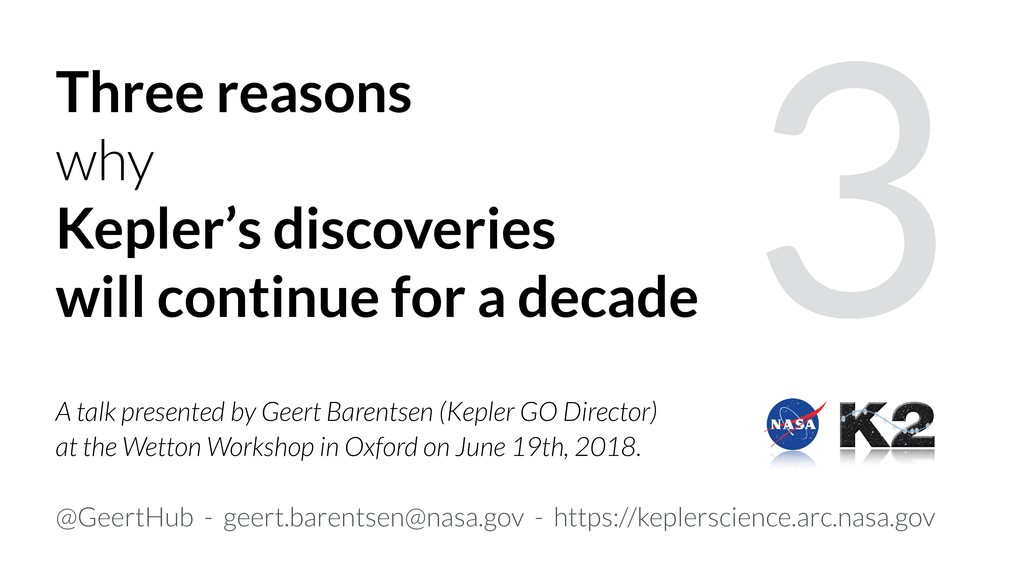 3 Three reasons