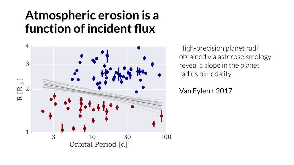 Atmospheric erosion is a function of incident fl...