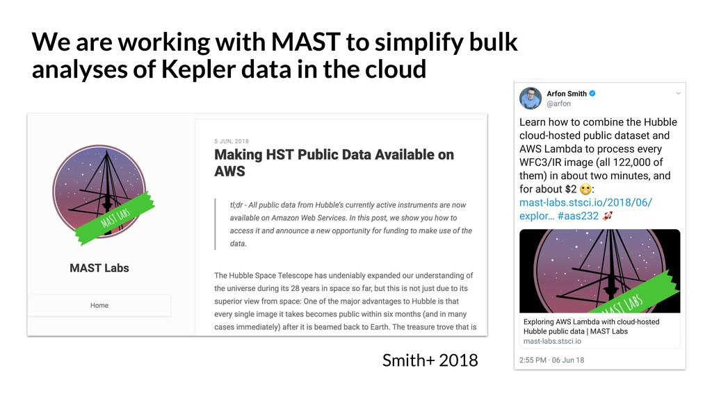 We are working with MAST to simplify bulk analy...