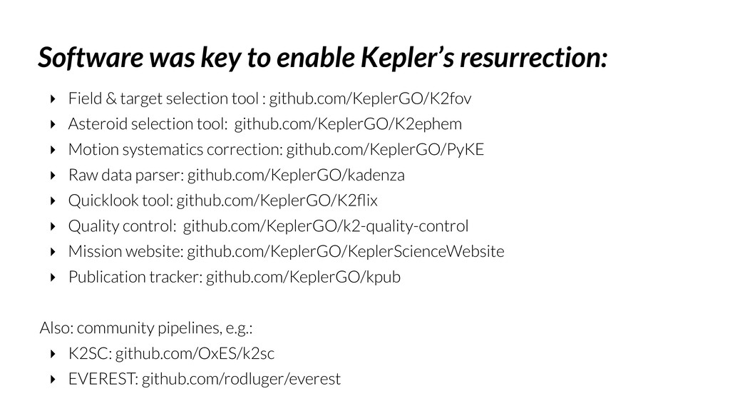 Software was key to enable Kepler's resurrectio...