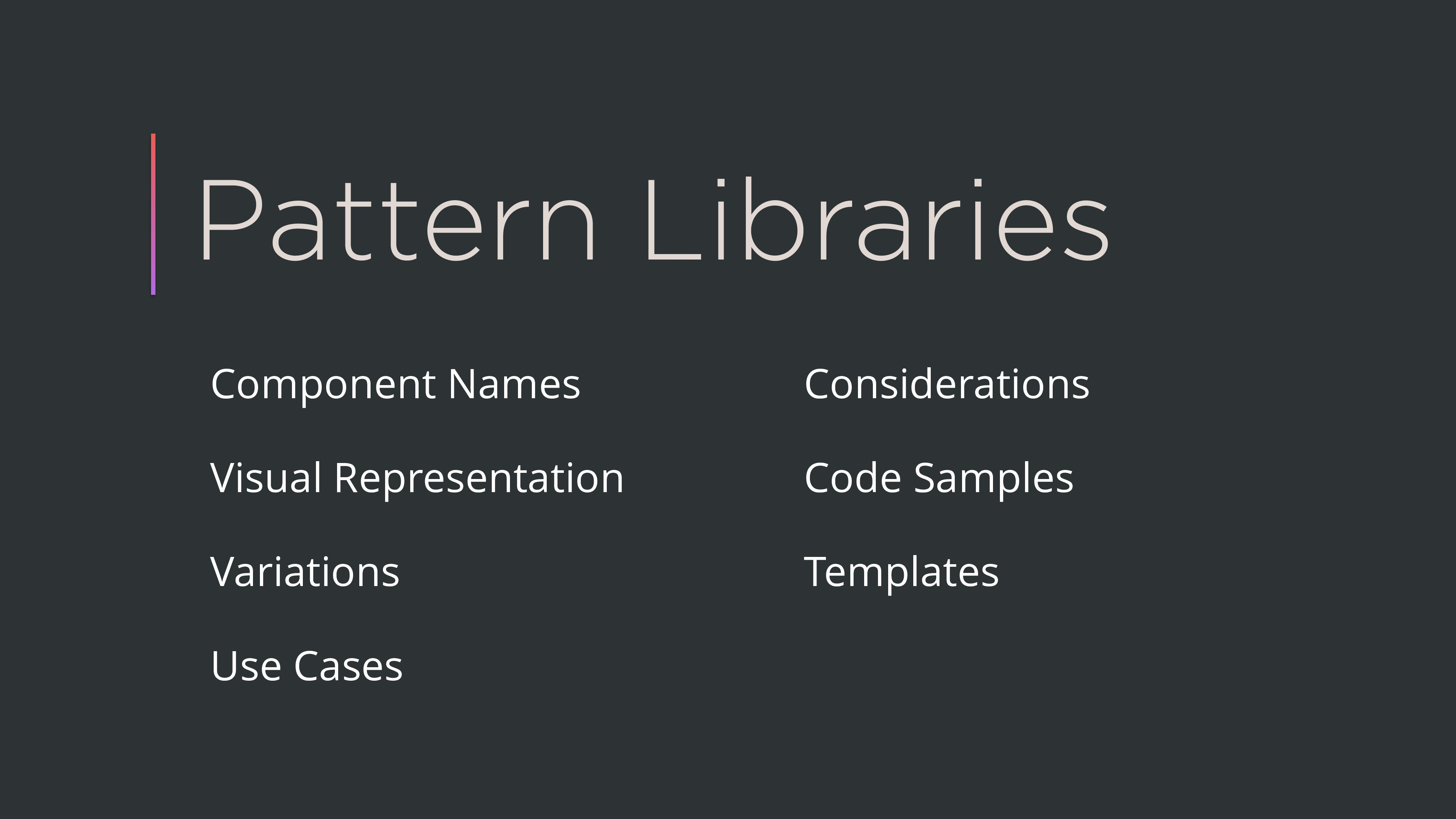 Pattern Libraries Component Names Visual Repres...