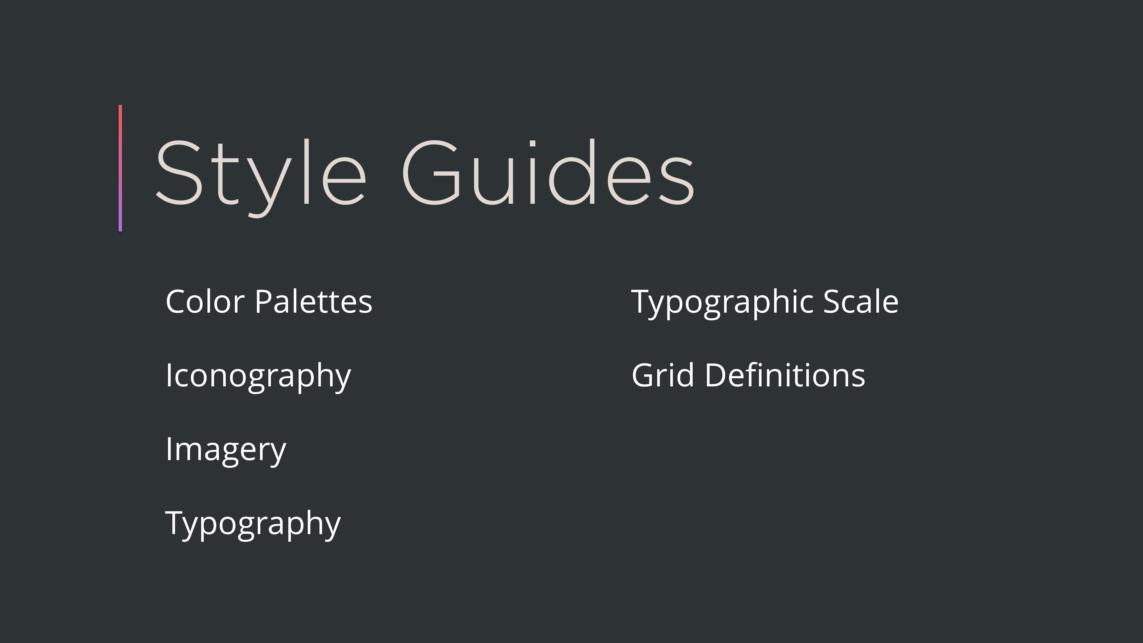 Style Guides Color Palettes Iconography Imagery...