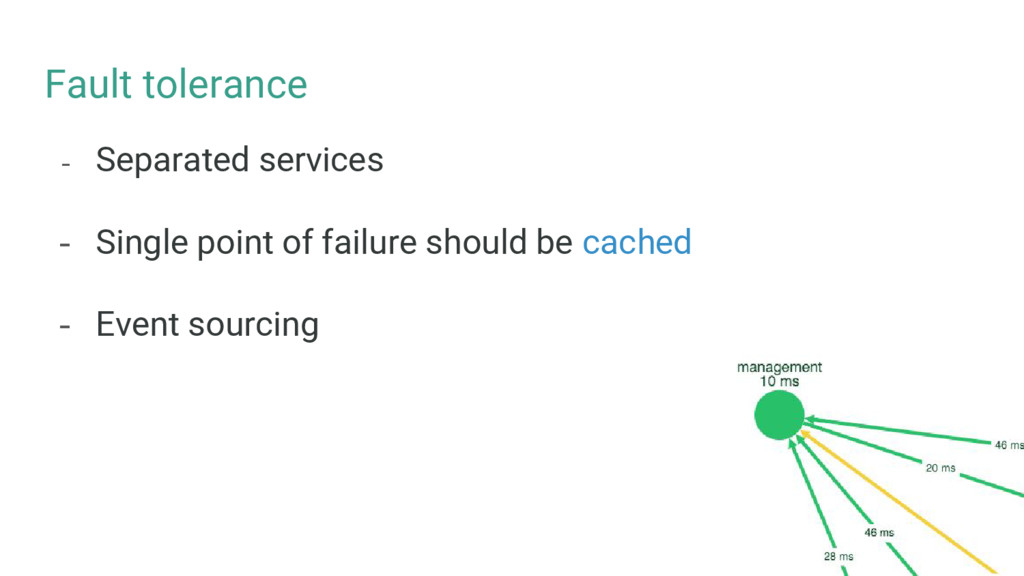 Fault tolerance - Separated services - Single p...