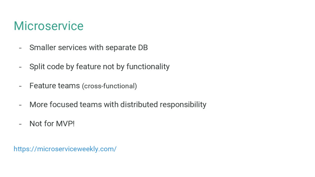 Microservice - Smaller services with separate D...