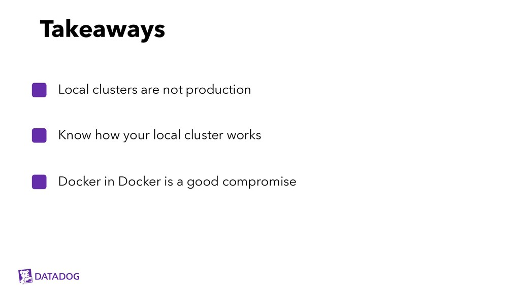 Know how your local cluster works Local cluster...