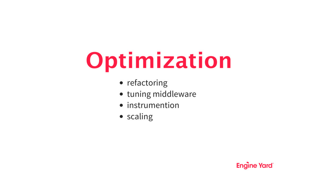 Optimization refactoring tuning middleware inst...