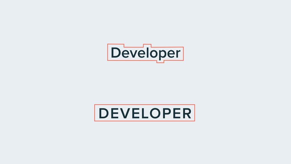 Developer DEVELOPER