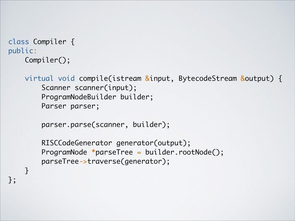 class Compiler { public: Compiler(); virtual vo...