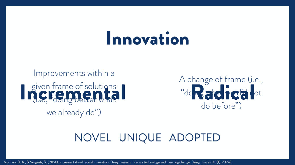 Radical Incremental Improvements within a given...