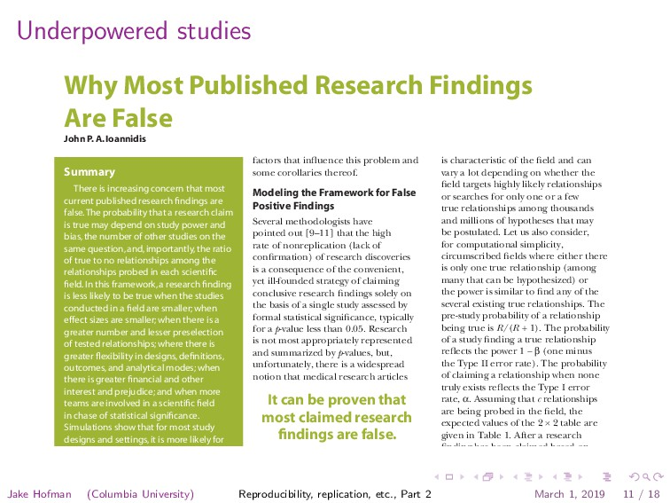 Underpowered studies Essay Open access, freely ...