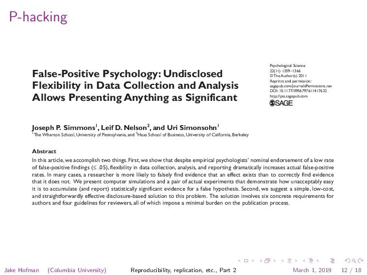 P-hacking Psychological Science 22(11) 1359 –13...