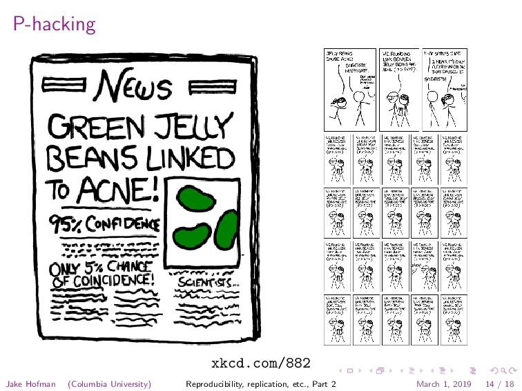 P-hacking xkcd.com/882 Jake Hofman (Columbia Un...
