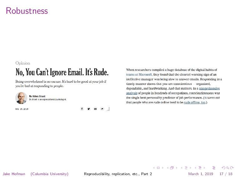 Robustness Jake Hofman (Columbia University) Re...