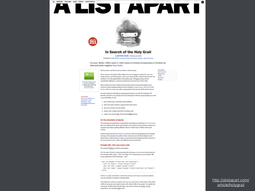 http://alistapart.com/ article/holygrail