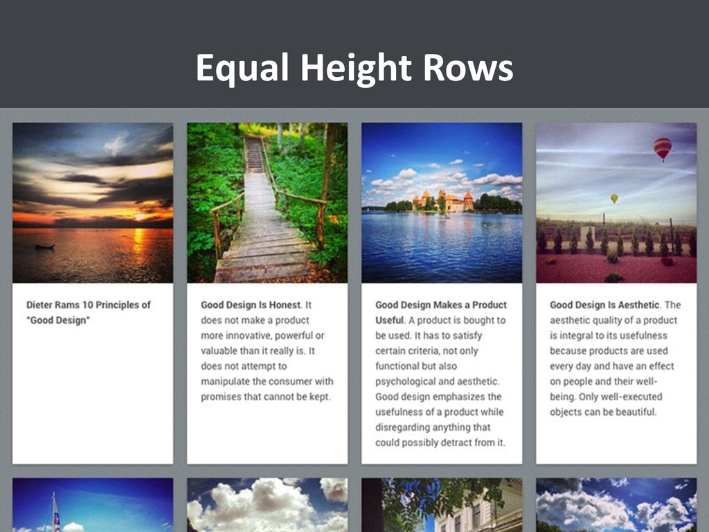 Equal Height Rows