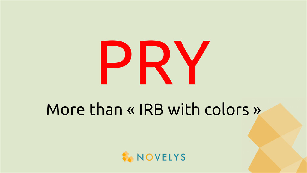 PRY More than « IRB with colors »