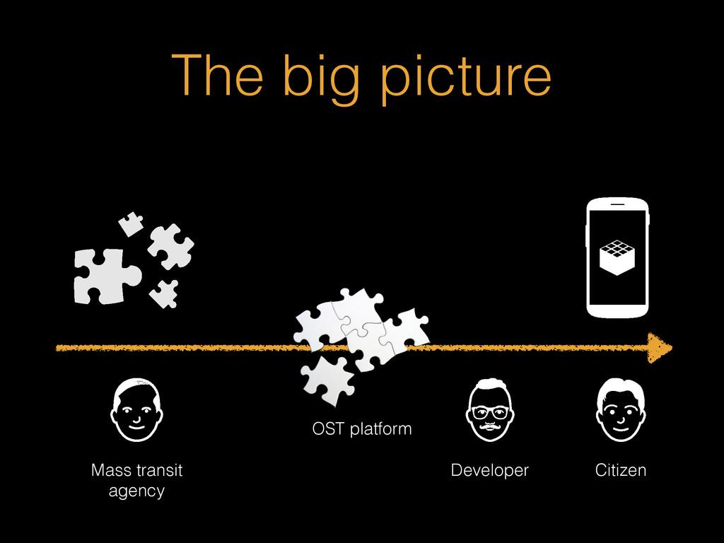 The big picture Mass transit agency Developer C...