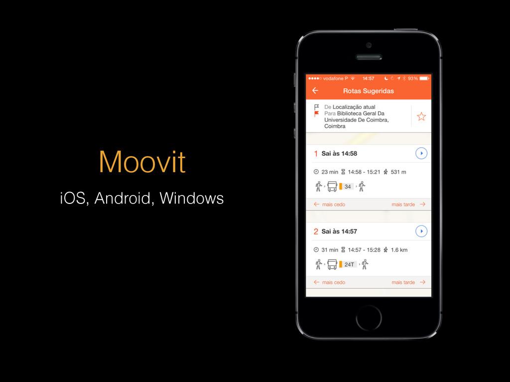 Moovit iOS, Android, Windows