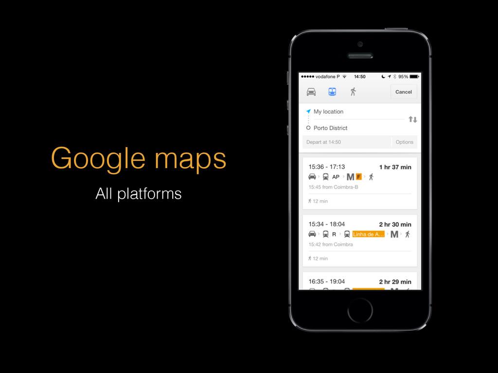 Google maps All platforms