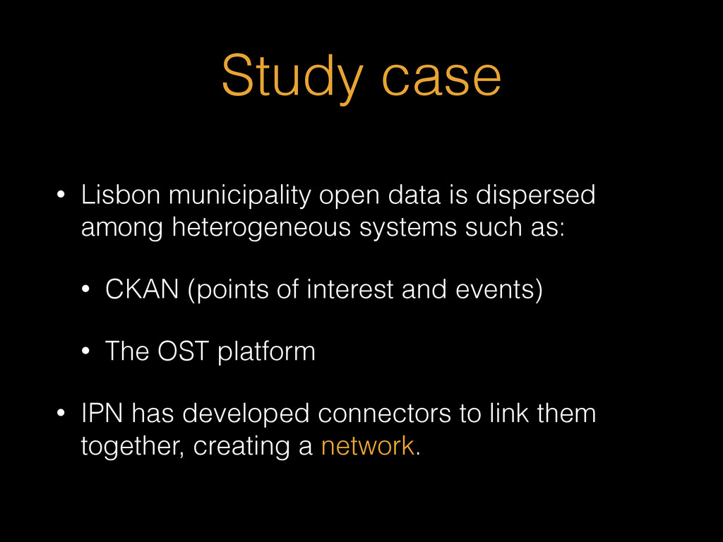 Study case • Lisbon municipality open data is d...