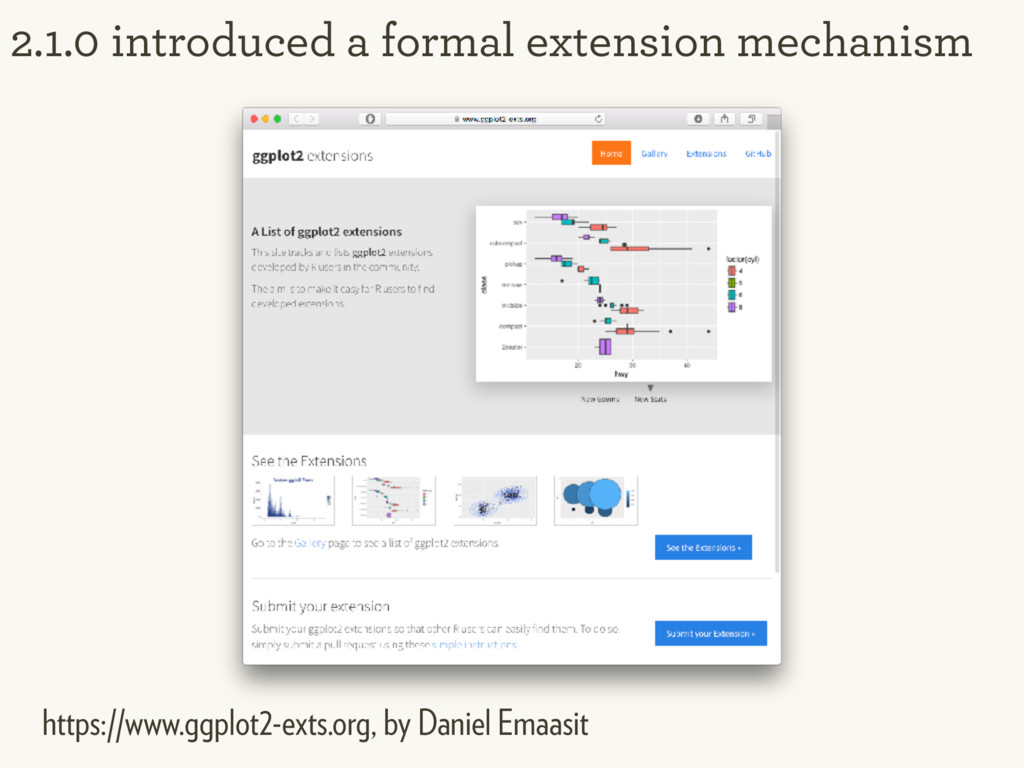 2.1.0 introduced a formal extension mechanism h...