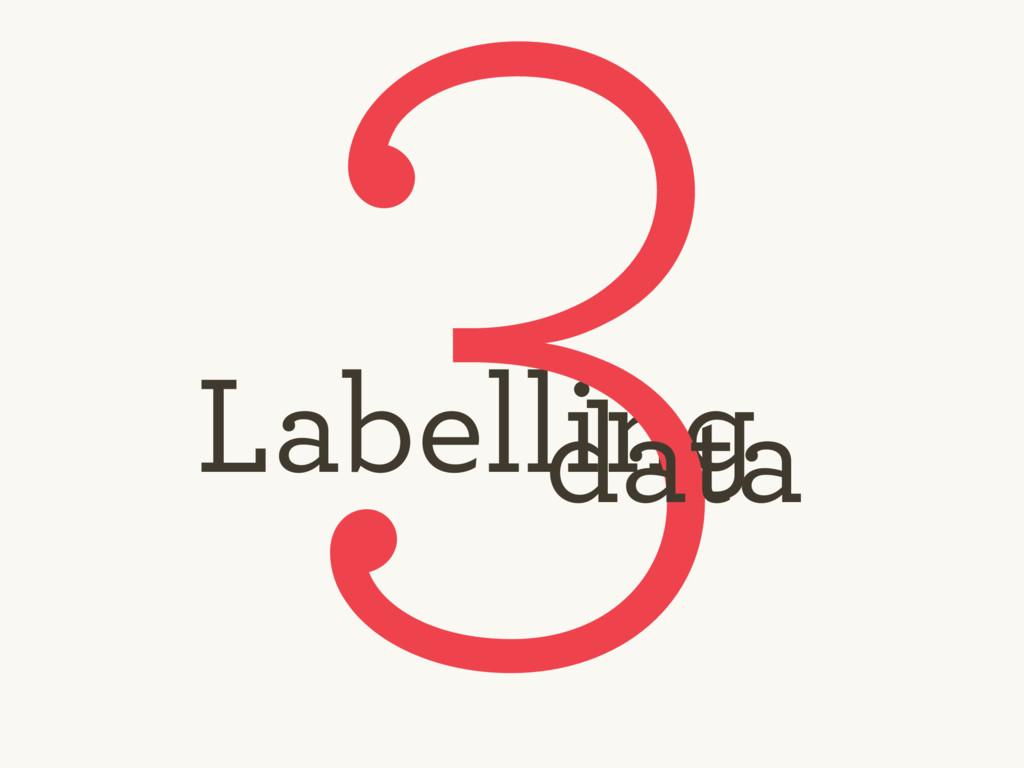 Labelling 3 data