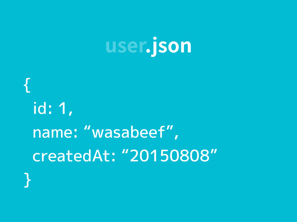 "VTFSKTPO { id: 1, name: ""wasabeef"", createdAt:..."