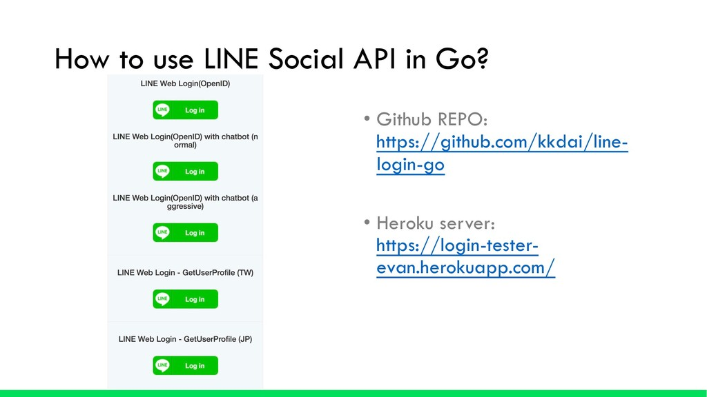 How to use LINE Social API in Go? • Github REPO...