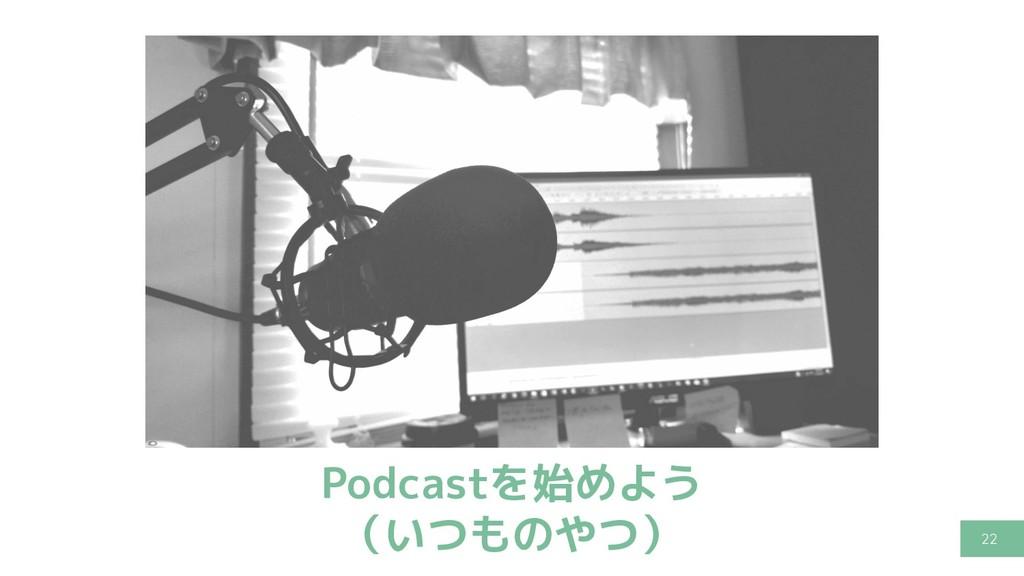 22 Podcastを始めよう (いつものやつ)