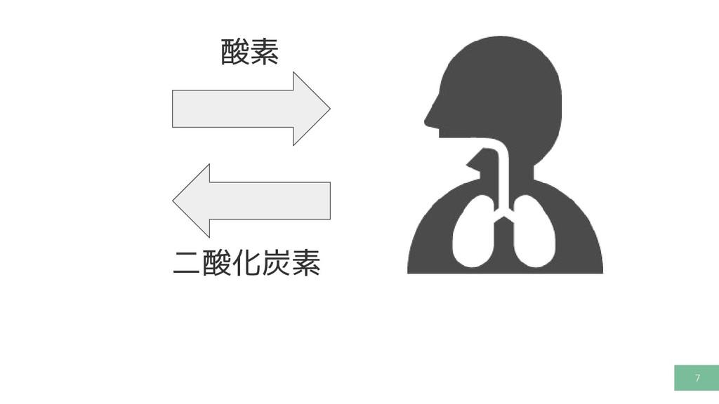 7 酸素 二酸化炭素