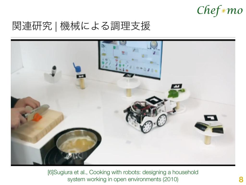 Chef mo * ؔ࿈ݚڀ | ػցʹΑΔௐཧࢧԉ 8 [6]Sugiura et al.,...