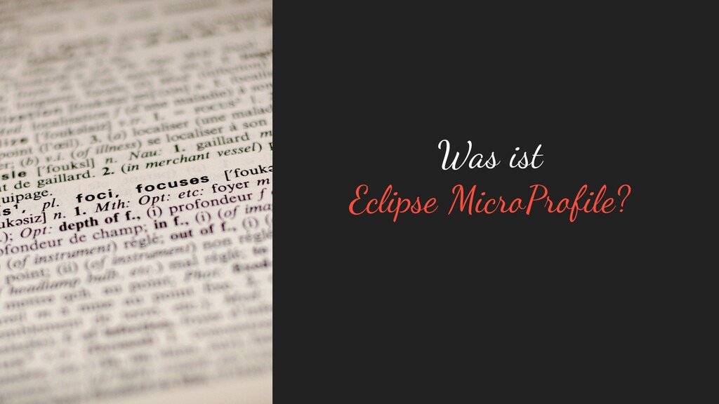 Was ist Eclipse MicroProfile?