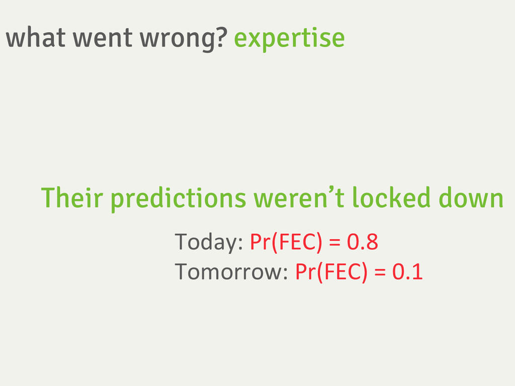 what went wrong? expertise Their predictions w...