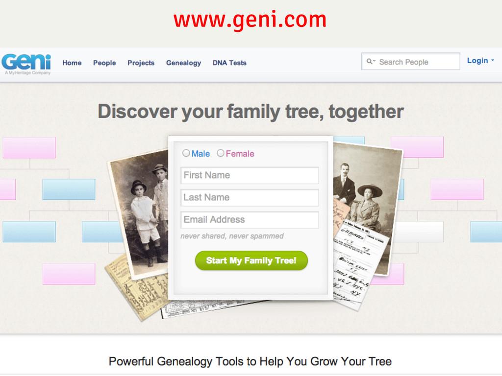 www.geni.com