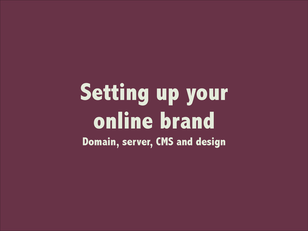 Setting up your