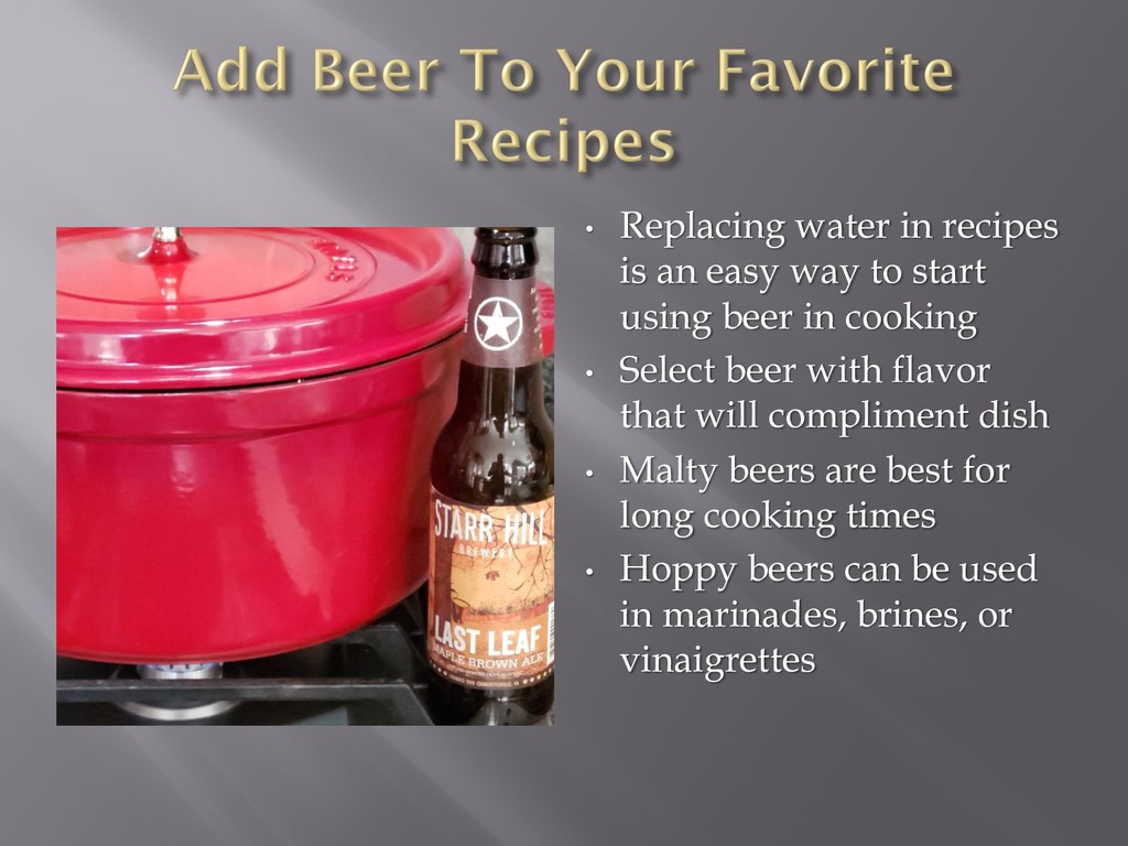 • Replacing water in recipes is an easy way to ...