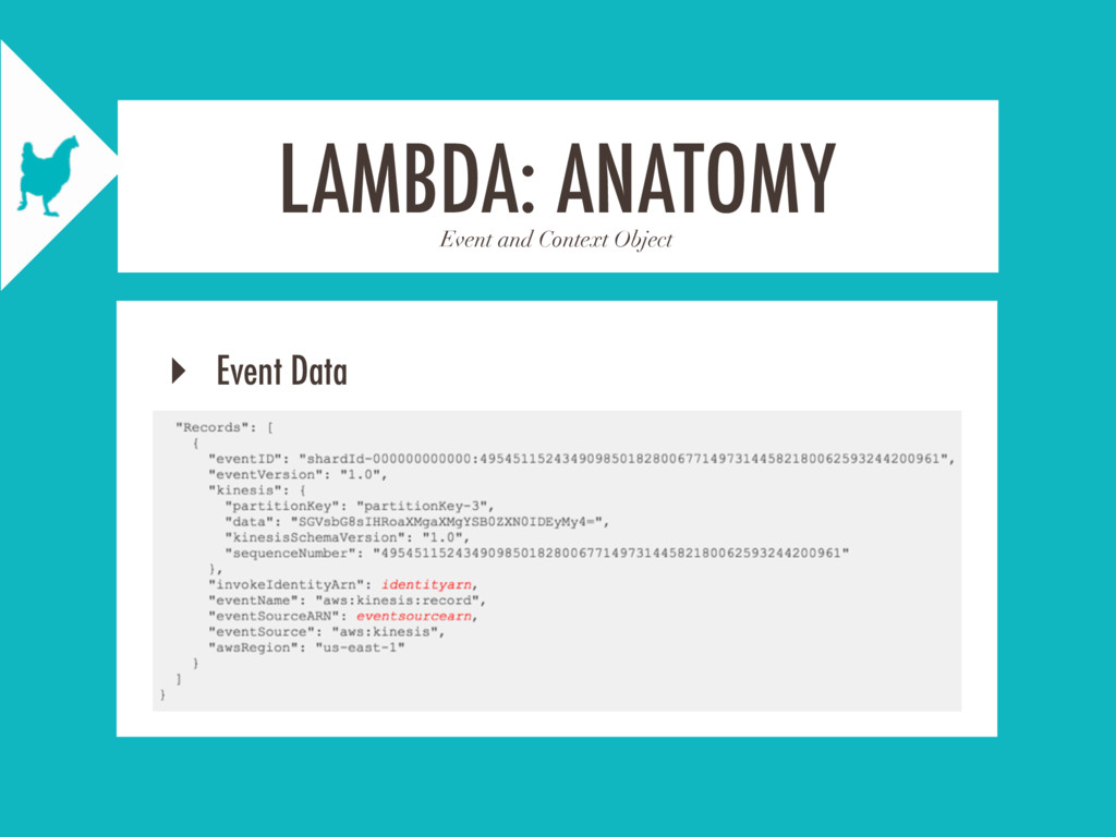 Event and Context Object LAMBDA: ANATOMY ‣ Even...
