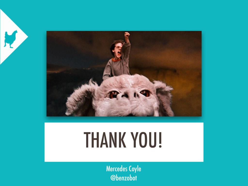THANK YOU! Mercedes Coyle @benzobot