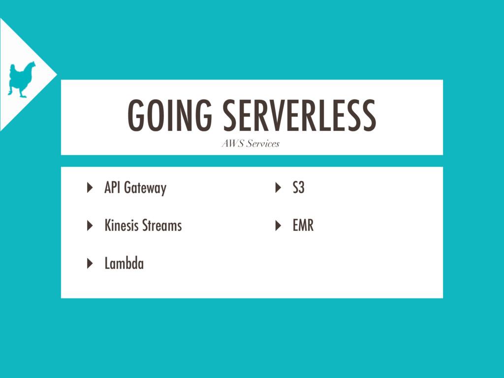 AWS Services GOING SERVERLESS ‣ API Gateway ‣ K...