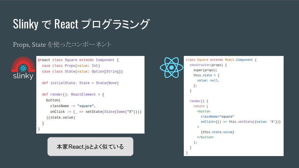 Slinky で React プログラミング Props, State を使ったコンポーネント...