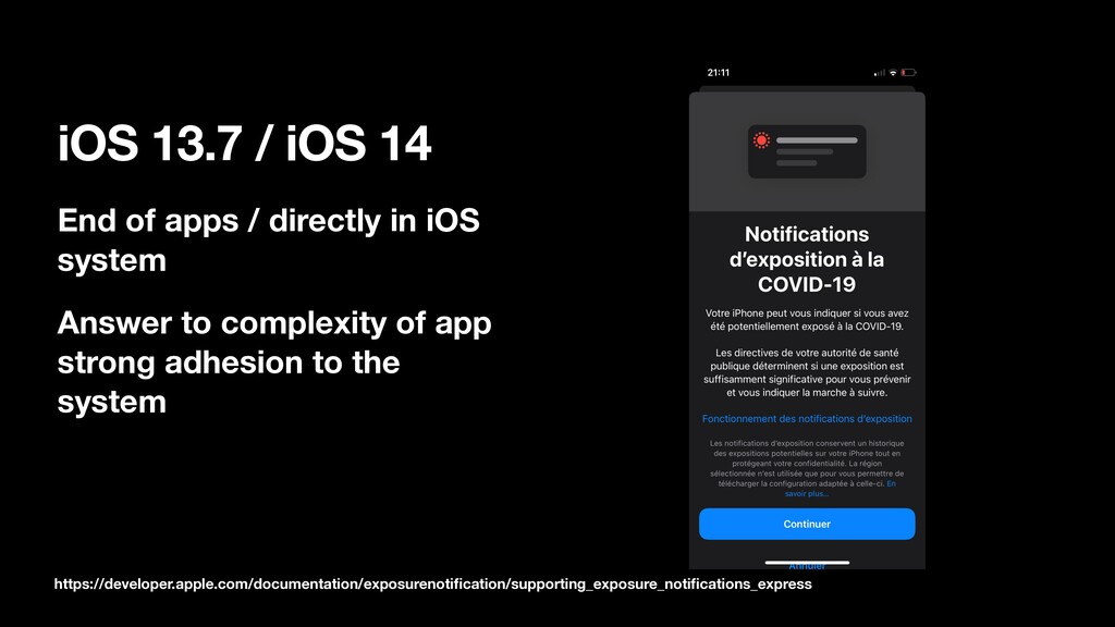 iOS 13.7 / iOS 14 End of apps / directly in iOS...