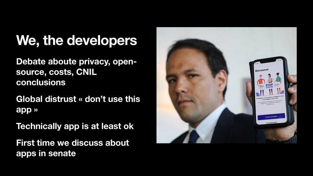We, the developers Debate aboute privacy, open-...
