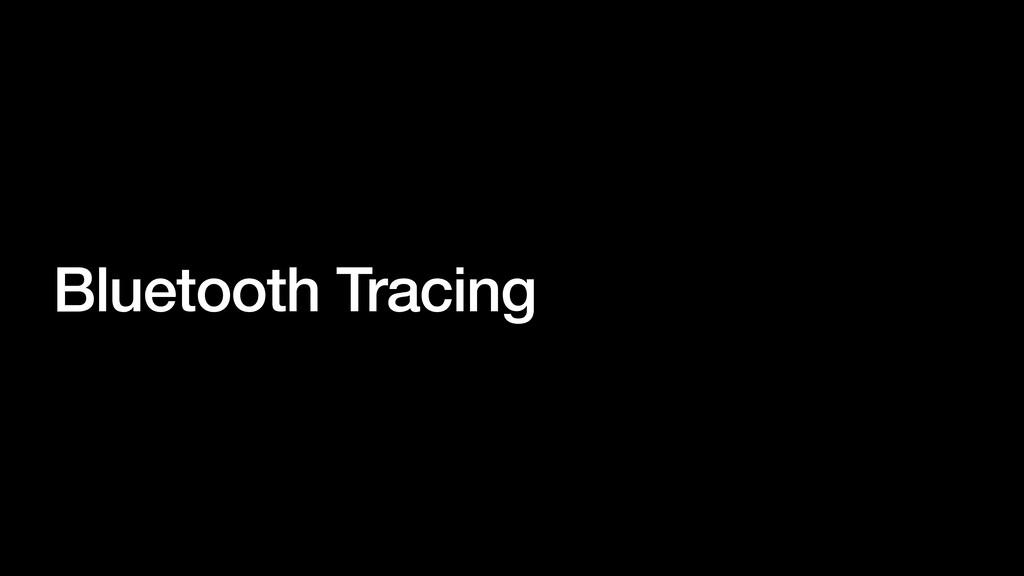 Bluetooth Tracing
