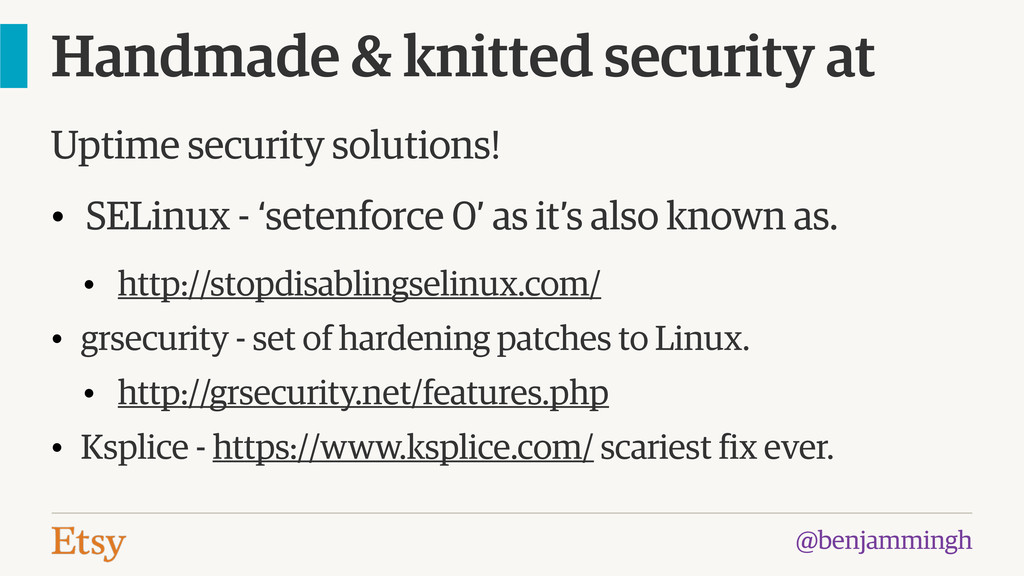 @benjammingh Handmade & knitted security at Upt...